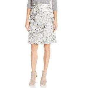 Ellen Tracy metallic jacquard a-line skirt NWT sz6
